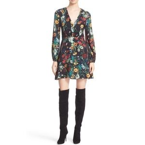 Alice + Olivia Floral Long Sleeve Cary Dress